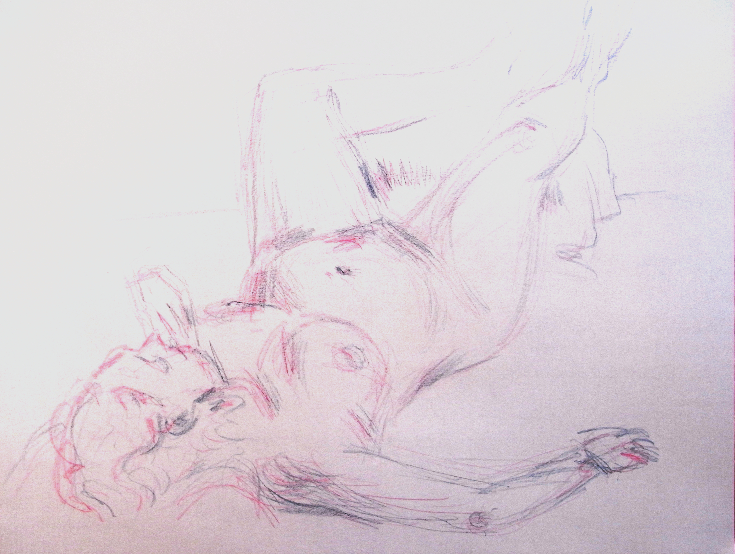 3d reclining nude