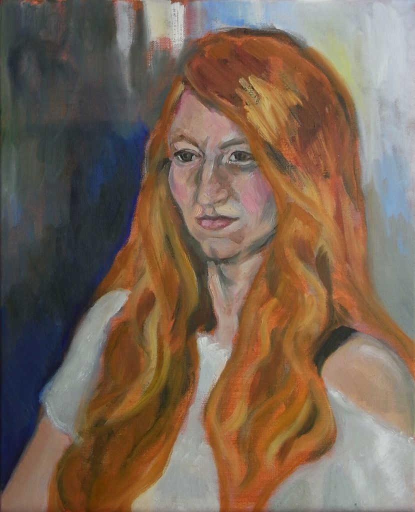 Painting of Birte 2016