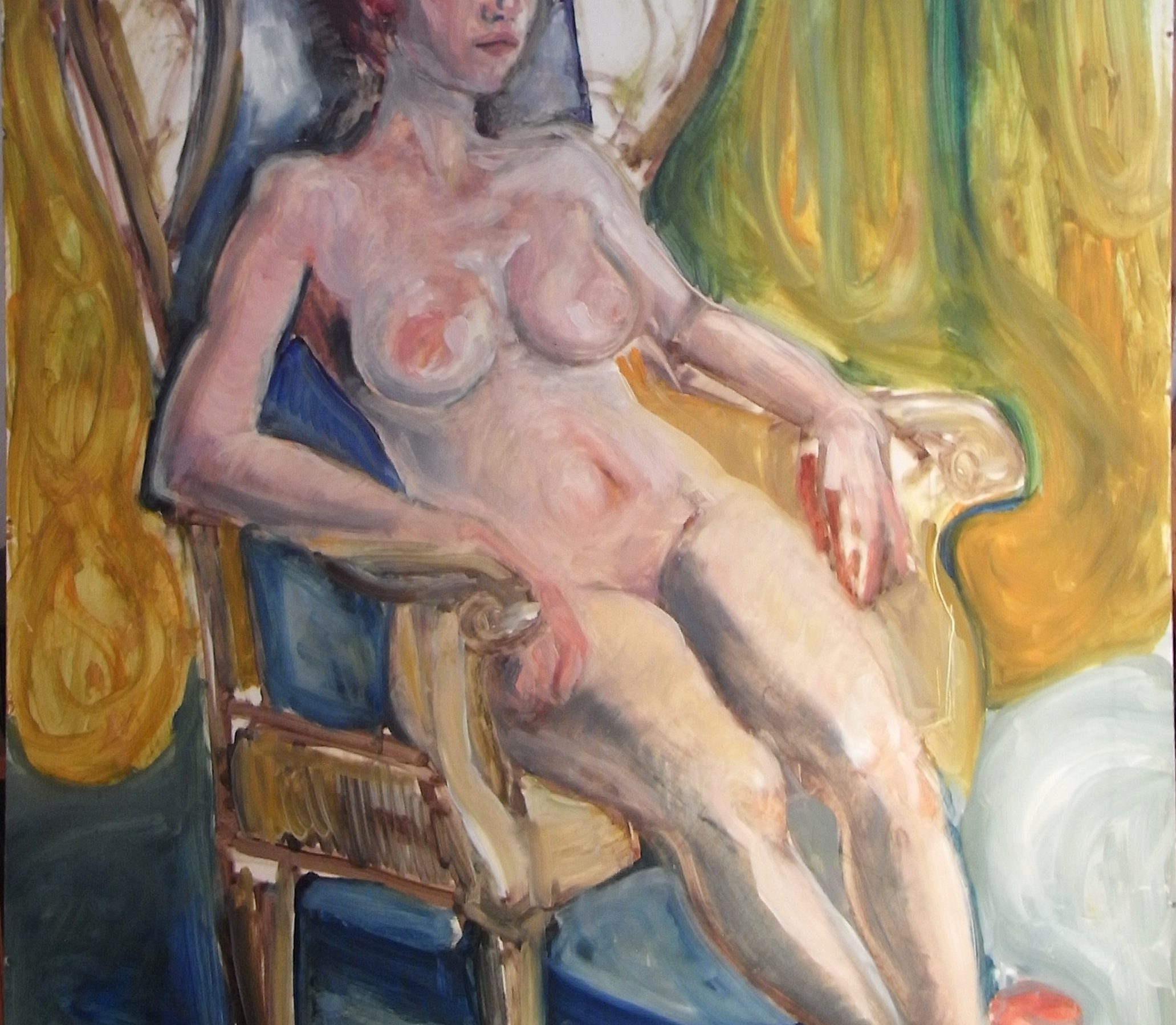 Painting of a seated nude